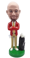 Golfer custom bobble head doll 8