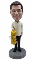 Bananas Male custom bobble head doll