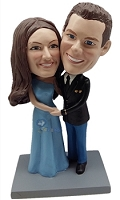 Happy couple custom bobble head doll 6