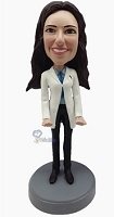 Female Doctor 3 custom bobblehead