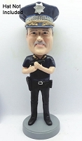 Police man personalized bobble head doll 3