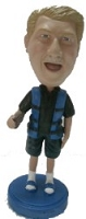 Man in life vest fisherman custom bobble head doll