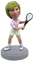 Tennis lady custom bobble head doll