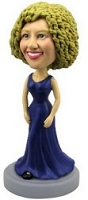 Nice dress (Deep Blue) custom bobble head doll