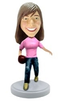 Bowler Personalized bobblehead  Female