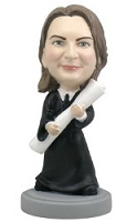 Graduation Female custom bobble head doll