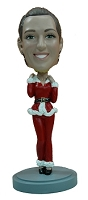 Sexy Mrs. Claus custom bobble head doll