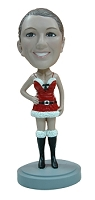 Super Sexy Holiday Outfit custom bobble head doll