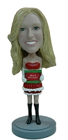 Super Sexy Holiday Outfit 2 custom bobble head doll