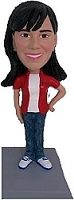 Casual Female custom bobble head doll