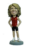 Athletic Female custom bobble head doll