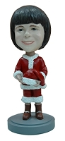 Holiday child dressed like Santa custom bobble head doll