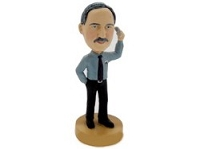 Supervisor Man on phone personalized bobble head doll