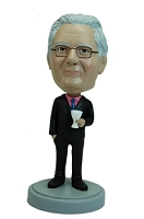 Business man with martini glass custom bobble head doll