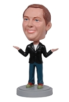 Male hands up custom bobble head doll 2