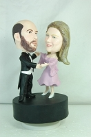 Dancing couple custom bobble head doll