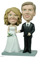 Wedding couple custom bobble head doll  A