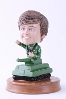 Army Soldier inside a tank personalized bobble head doll