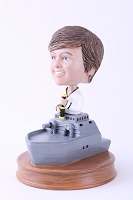 Sailor in Navy ship custom bobble head doll
