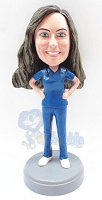 Female surgeon custom bobblehead