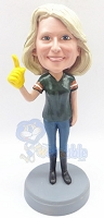 #1 female fan custom bobblehead