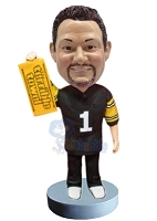Football custom bobble head doll with towel