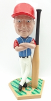 Man baseball player with over-sized bat custom bobble head doll Premium
