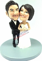 Wedding couple custom bobble head doll Premium