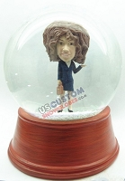 Female with brief case personalized snow globe