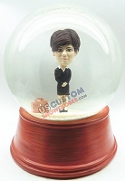 Business woman personalized snow globe