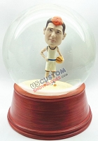 Male basketball player 2 personalized snow globe