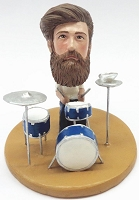 Male drummer custom bobble head doll Premium