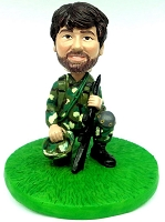 Male soldier custom bobble head doll Premium