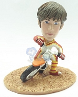 Male on dirt bike custom bobble head doll Premium