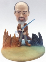 Male jedi custom bobble head doll Premium