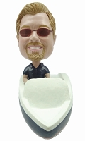Man in boat custom bobble head doll Premium
