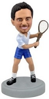 Racket Man custom bobble head doll