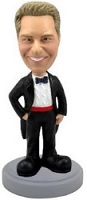 Tuxedo custom bobble head doll man (Suit 3)