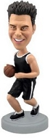 Basketball 2 Bobble (Black) custom bobble head doll