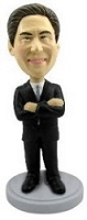Man with hands crossed custom bobble head doll
