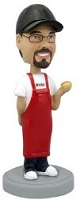 Male Cooking personalized bobble head doll