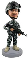 Military custom bobble head doll