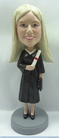 Graduation Female custom bobble head doll 3