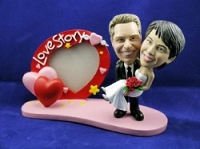 Man and Women frame with love custom bobble head doll