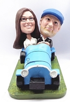 couple in Car custom bobble head doll