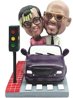 couple in Car custom bobble head doll  2