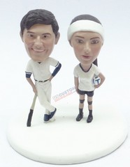Custom Snow Globe | Baseball Meets Volley Ball