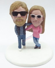 Custom Snow Globe | Male And Female Holding Eachother 2