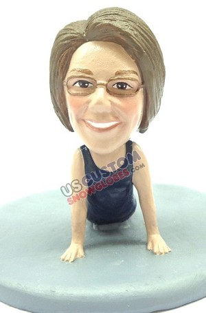 Custom Snow Globe | Female Yoga Position