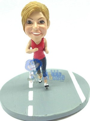 Custom Snow Globe | Female Jogger